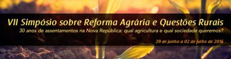 SIMPÓSIO SOBRE REFORMA AGRÁRIA E QUESTÕES RURAIS